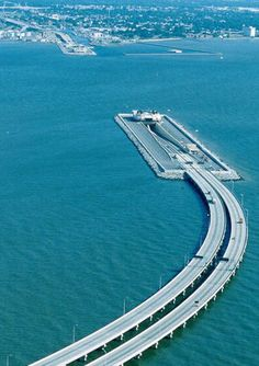 I remember riding through this! Monitor-Merrimac Memorial Bridge-Tunnel is a 4.6 miles (7.4 km) crossing for Interstate 664 in Hampton Roads, Virginia, USA