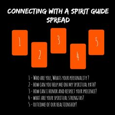 Connecting with a spirit guide tarot spread. Can't wait to use this with my tarot cards AND my oracle cards, too!