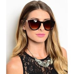 Chic oversized cat eye silhouette sunglasses available in tortoise and  black. The shape make these.