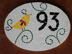 número de mosaico R$130.00