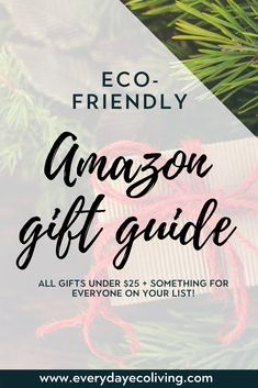 Give the gift of something greener and better for you this holiday season! This roundup of over 60 natural gifts includes something for everyone on your list. BONUS- you won't have to break your budget this holiday season as everything is under $25! #giftguide #naturalliving #naturalgifts