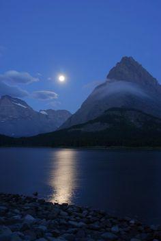 swiftcurrent lake, glacier national park, mt