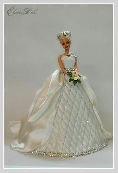BArbie bride Barbie Bridal, Barbie Wedding Dress, Barbie Gowns, Barbie Dress, Barbie Clothes, Barbie Cake, Barbie I, Bride Dolls, Barbie Collection