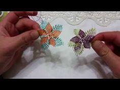 Geniş İğne Oyası Yapılışı HD Kalite - YouTube