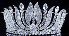 Janefashions Phoenix Clear Austrian Crystal Rhinestone Tiara with Hair Combs Crown T11992