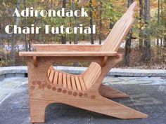 Adirondack chair tutorial