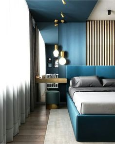 News and Trends from Best Interior Designers Arround the World Bedroom False Ceiling Design, Bedroom Bed Design, Modern Bedroom Design, Contemporary Bedroom, Home Decor Bedroom, Modern Interior Design, Apartment Interior, Room Interior, Bedroom Goals