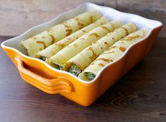 Panqueques salados con espinaca