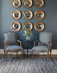 Uttermost's mirrors combine premium quality materials with unique high-style design.  Product: Uttermost Tropea Copper Mirrors.  Mirror dimensions: 12-in w x 12-in h  Bellacor #: 1208358