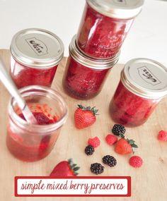 simple mixed berry preserves recipe @Centsational Blog Girl #bhgsummer