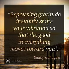 Begin each day with an attitude of gratitude! What are you grateful for? #SandyGallagher #BobProctor #PGI #Gratitude