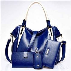 Ericdress Modern Color Block PU Handbag (4 Bags)