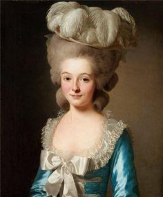 Portrait of a French lady,(Mademoiselle de Bionville) - Alexander Roslin
