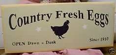 Image detail for -Primitive Wood Sign - Country Fresh Eggs | eBay