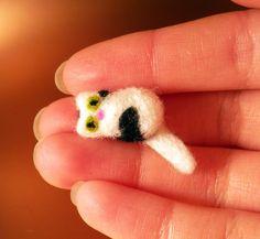 Super mini needled felted kitty $7 #etsy