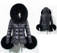 56cae756ee387 New Women s Lady Warm Faux Fur Collar Down jacket Hooded Winter Ladies Coats