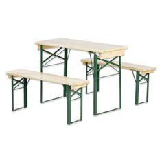 Die Bierzeltgarnitur, bestehend aus zwei Bänken und einem Tisch, ist das ideale und praktische Möbelstück für Feierlichkeiten im Freien. Die Garnitur aus Nadelholz hat ein Maß von ca. 50 x 78 x 110 cm und ist FSC-zertifiziert.,− Für Feierlichkeiten im Freien,− 2 Bänke und ein Tisch,− Aus Nadelholz,− Maße ca. 50 x 78 x 110 cm (Breite x Höhe x Tiefe)