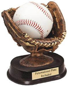 Resin Glove Baseball Trophy   | K2 Trophies and Awards
