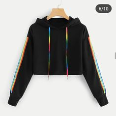 Hooded sweatshirt with tape Teenager Outfits Hooded Sweatshirt tape Teenage Outfits, Teen Fashion Outfits, Mode Outfits, Outfits For Teens, Girl Outfits, Womens Fashion, Prom Outfits, Sporty Fashion, Shirts For Teens