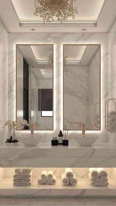 Dream House Interior, Luxury Homes Dream Houses, Home Room Design, Dream Home Design, Dream Bathrooms, Beautiful Bathrooms, Fancy Bathrooms, Luxurious Bathrooms, Marble Bathrooms