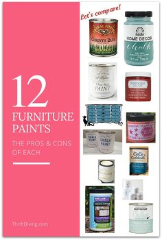 What's the best paint for furniture? It depends on the furniture you're painting and the look you're going for. These 12 furniture paints can help!