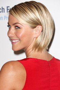 Slick your bob back like Julianne Hough for a stunning summery style.