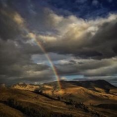 A rainbow spans the northern boundary of Yellowstone National Park. On assignment for National Geographic Magazine in the Greater Yellowstone Ecosystem. iPhone photo by David Guttenfelder @dguttenfelder by natgeo