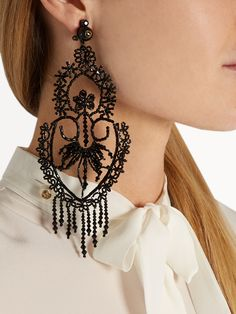 Click here to buy Gucci Bead-embellished clip-on earrings at MATCHESFASHION.COM