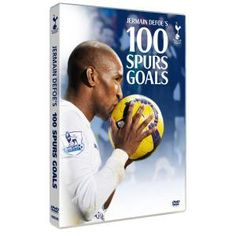 Jermain Defoe's 100 Spurs Goals DVD. From his first goal in Spurs colours against Portsmouth in 2004, right through to his 100th goal against West Bromwich Albion in 2011, Jermain Defoe has become a Spurs hero during his two spells at Tottenham Hotspur. This DVD re-lives all his goals for THFC.   £15.00