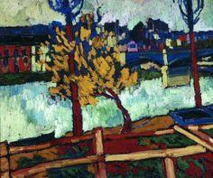 Maurice de Vlaminck (French, Fauvism, 1876–1958): Banks of the Seine at Chatou (Berges de la Seine à Chatou), 1906. Oil on canvas, 53 x 65 cm. Private Collection.