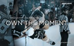"""Heroes always leap into action."" Claude Giroux for Bauer Hockey #ownthemoment"