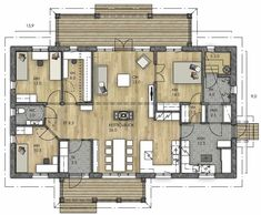 RAUHALA 143 - Kannustalo Sims, Future House, Beach House, Architecture Design, House Plans, Sweet Home, Floor Plans, Home And Garden, Layout
