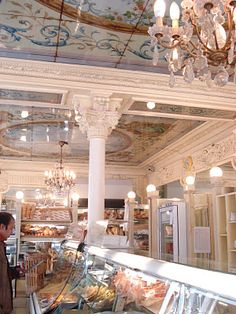 "a Paris patisserie.  No where but Paris will you find chandeliers in a ""bakery"".  Charming. ASPEN CREEK TRAVEL - karen@aspencreektravel.com"
