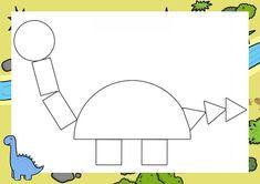 Dinosaur Classroom, Dinosaur Theme Preschool, Dinosaur Activities, Art Classroom, Preschool Activities, Dinosaur Discovery, Shape Crafts, Toy Craft, Diy And Crafts
