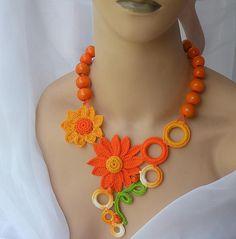 El verano viene! by DAINTYCROCHETBYALY, via Flickr  So many beautiful necklaces.