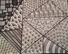 My zentangle art. By Linda Hallett