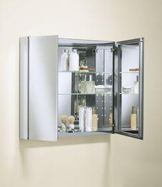 "Kohler K-CB-CLC3026FS 30"" x 26"" Double Door Mirrored Medicine Cabinet with Adjustable Glass Shelves - YOUR HOME NEEDS"