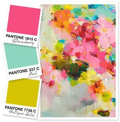 This is the perfect bold, bright color palette for summer!
