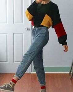 Ideas For Clothes Vintage Outfits Retro Shoes Retro Outfits, Diy Outfits, Grunge Outfits, Jean Outfits, Outfits For Teens, Cute Outfits, 90s Grunge, Grunge Jeans, Classy Outfits
