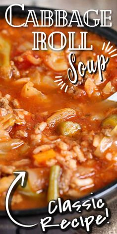 Crockpot Cabbage Roll Soup, Slow Cooker Cabbage Rolls, Cabbage Soup Recipes, Easy Soup Recipes, Easy Cabbage Rolls, Dinner Recipes, Slow Cooker Soup, Slow Cooker Recipes, Crockpot Recipes