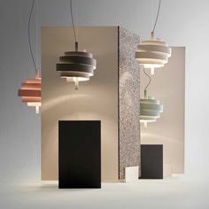 Pendant lamp / contemporary / metal PIOLA by Christophe Mathieu Marset Iluminacion Lamp Design, Lighting Design, Spanish Design, Lighting Showroom, Hall Lighting, Light Take, Led Pendant Lights, Pendant Lamps, Pendants