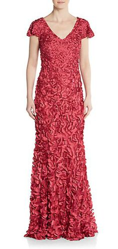 Theia | Beaded Paillette Gown | SAKS OFF 5TH