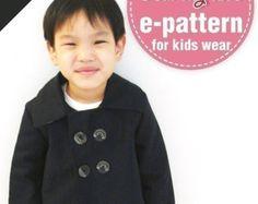 Stijlvol kinderen double breasted jas leeftijd 1 door dmkeasywear