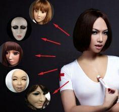 ホルター式高級シリコン乳房 半顔フィマスク お得セット!
