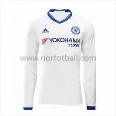 Billige Fotballdrakter Chelsea 2016-17 Tredje Draktsett Langermet Chelsea 2016, Premier League, Arm, Graphic Sweatshirt, Sweatshirts, Sweaters, Mens Tops, Third, Fashion