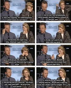 Simon Pegg about Benedict