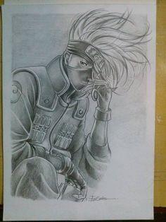 Ilustração hatake kakashi -Edi santos hatake kakashi illustration -Edi santos