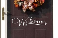 Welcome+Vinyl+Wall+Decal++Vinyl+for+you+Door++by+JustTheFrosting,+$5.00