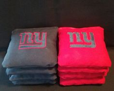 Set of 8 Embroidered New York Giants Football by FranklinandFigg