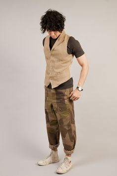 60% OFF ALL CABOURN!  Nigel Cabourn - Peak Lapel Vest  WWW.DWNDCLOTHING.COM
